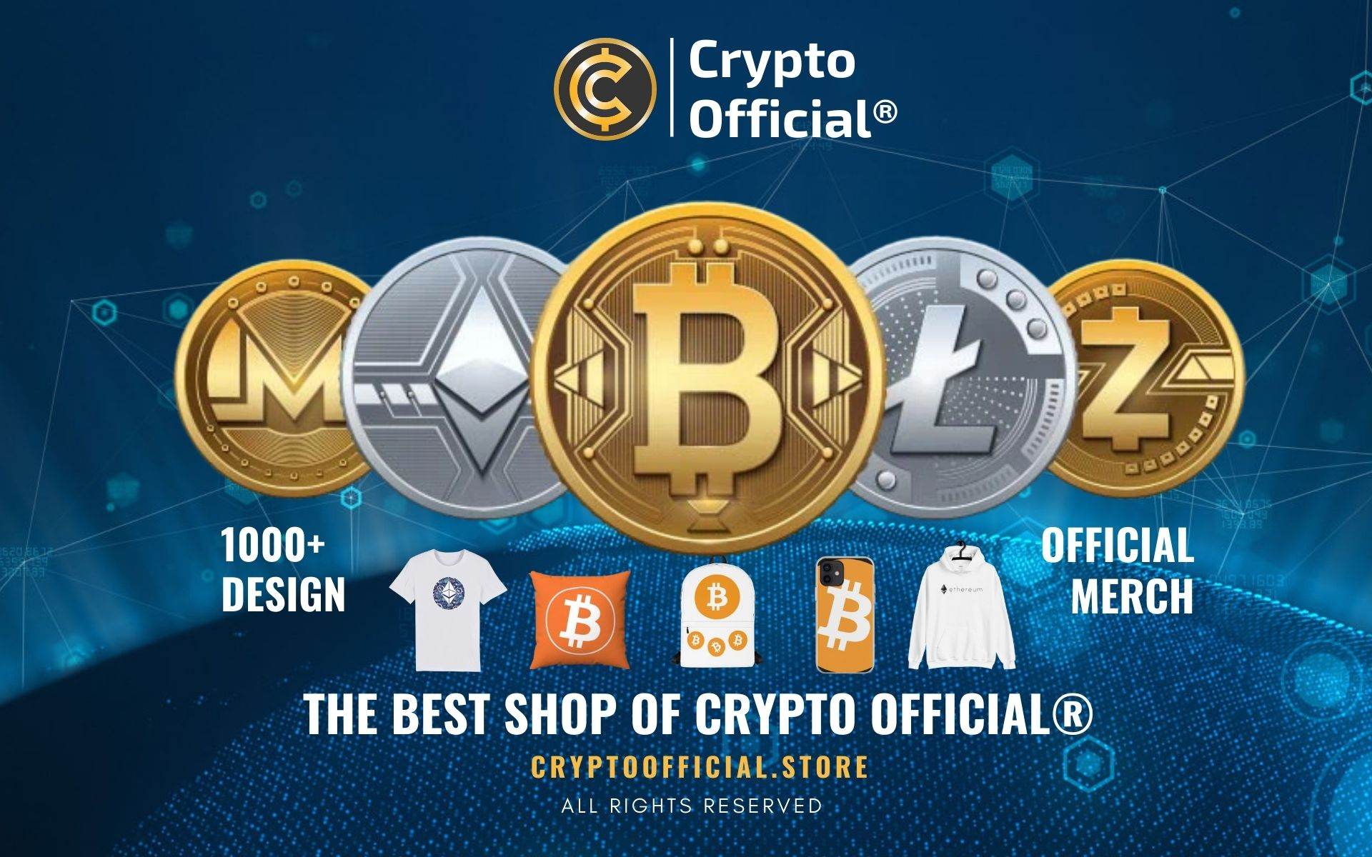 Crypto Merch Web Banner - Crypto Store