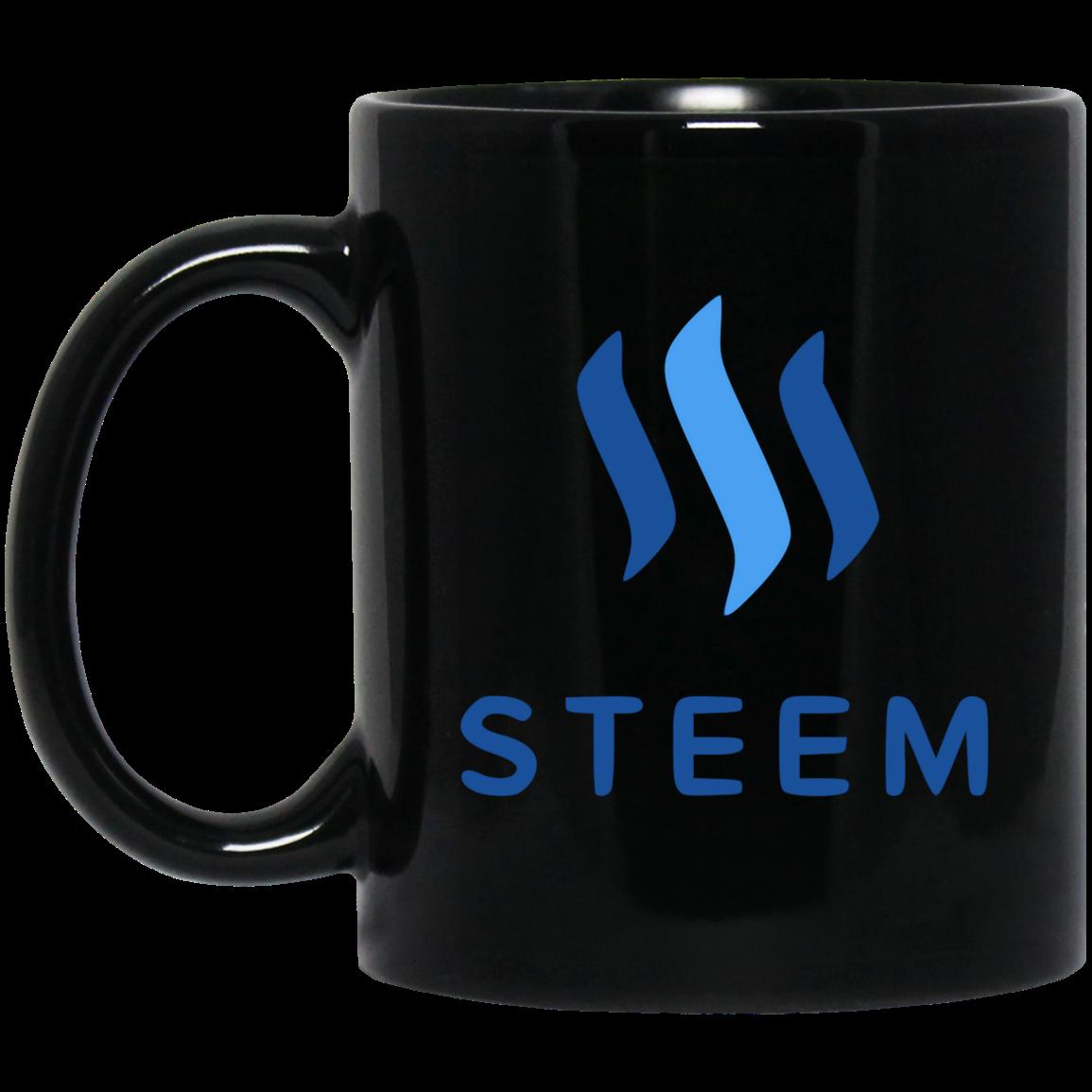 Steem - 11 oz. Black Mug TCP1607 Black / One Size Official Crypto  Merch