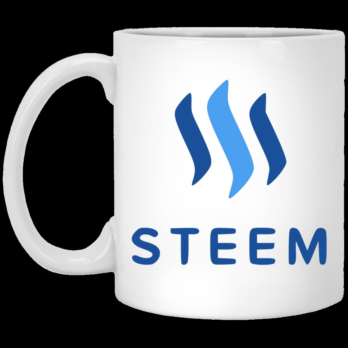 Steem - 11 oz. White Mug TCP1607 White / One Size Official Crypto  Merch