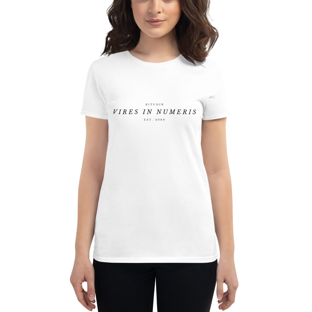 Vires in numeris (Bitcoin) - Women's Short Sleeve T-Shirt TCP1607 White / S Official Crypto  Merch