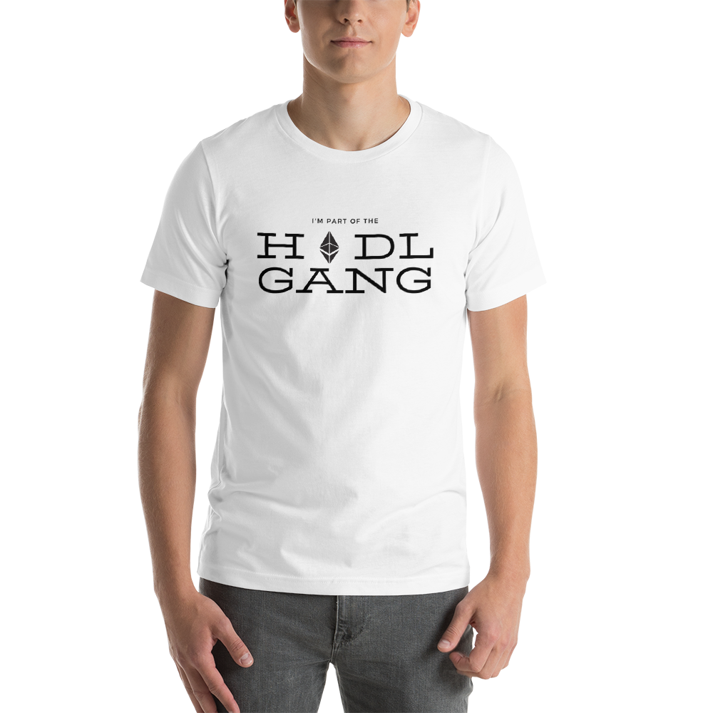 Hodl gang (Ethereum) - Men's Premium T-Shirt TCP1607 White / S Official Crypto  Merch