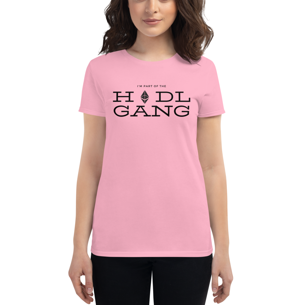 Hodl gang (Ethereum) - Women's Short Sleeve T-Shirt TCP1607 White / S Official Crypto  Merch