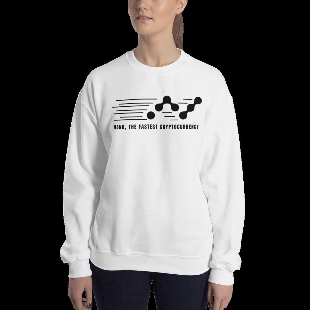 Nano, the fastest – Women's Crewneck Sweatshirt TCP1607 White / S Official Crypto  Merch