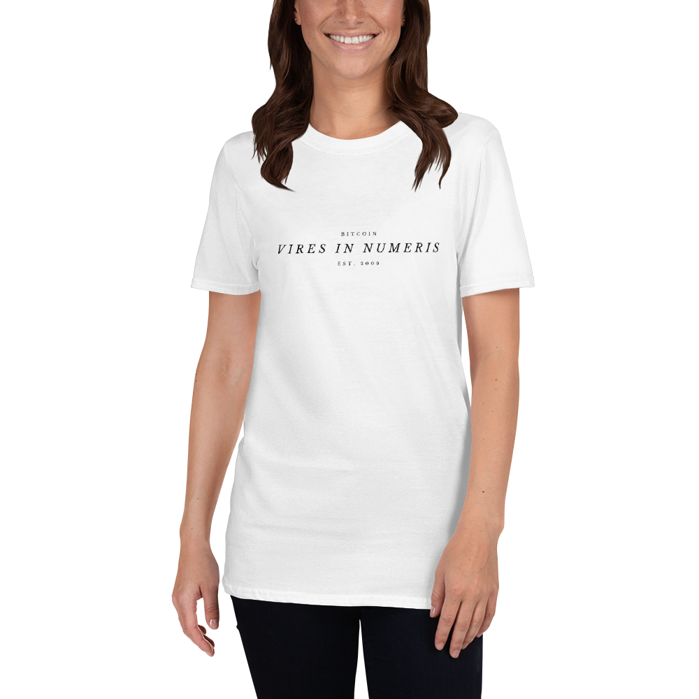 Vires in numeris (Bitcoin) - Women's T-Shirt TCP1607 White / S Official Crypto  Merch
