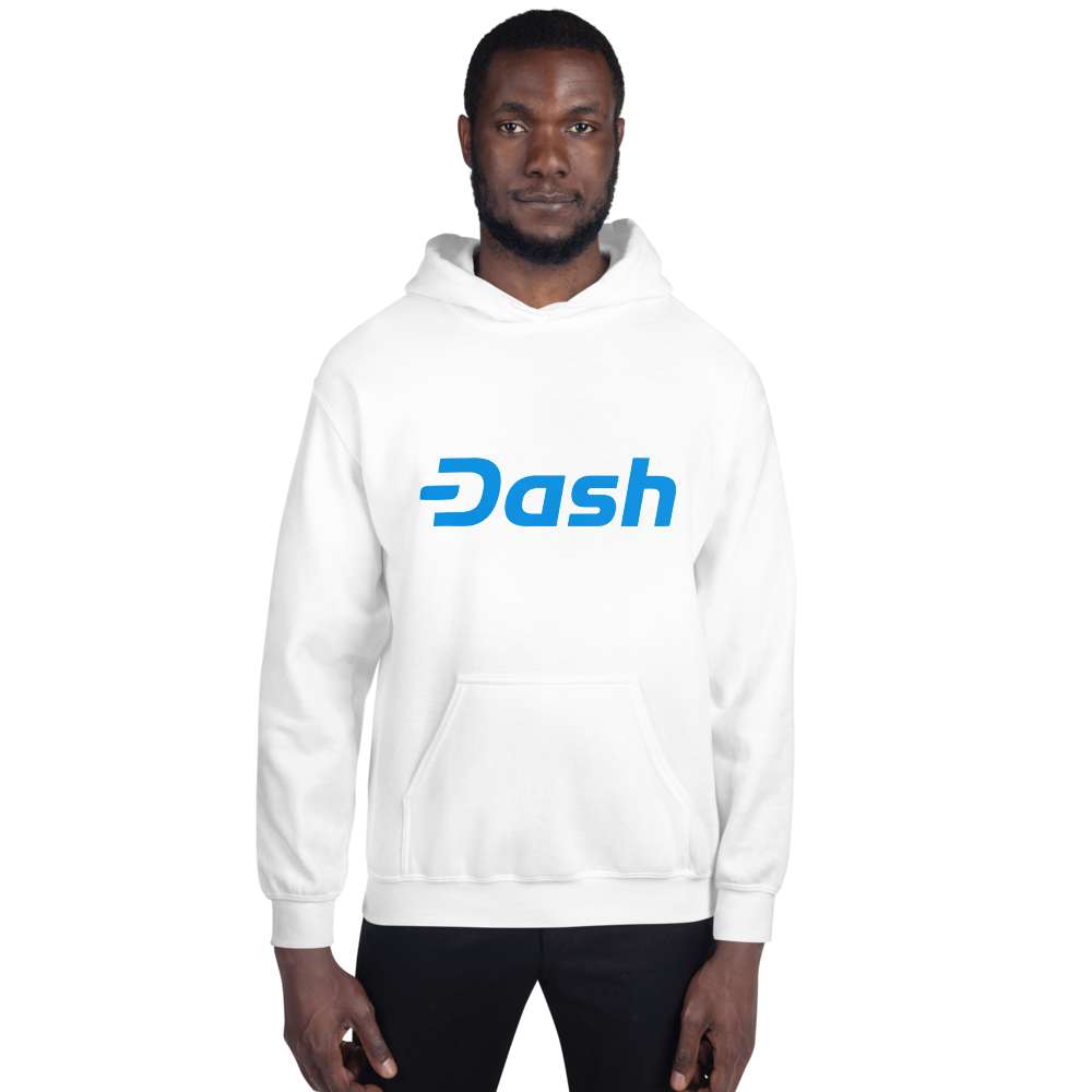 Dash Men Hoodie TCP1607 White / S Official Crypto  Merch