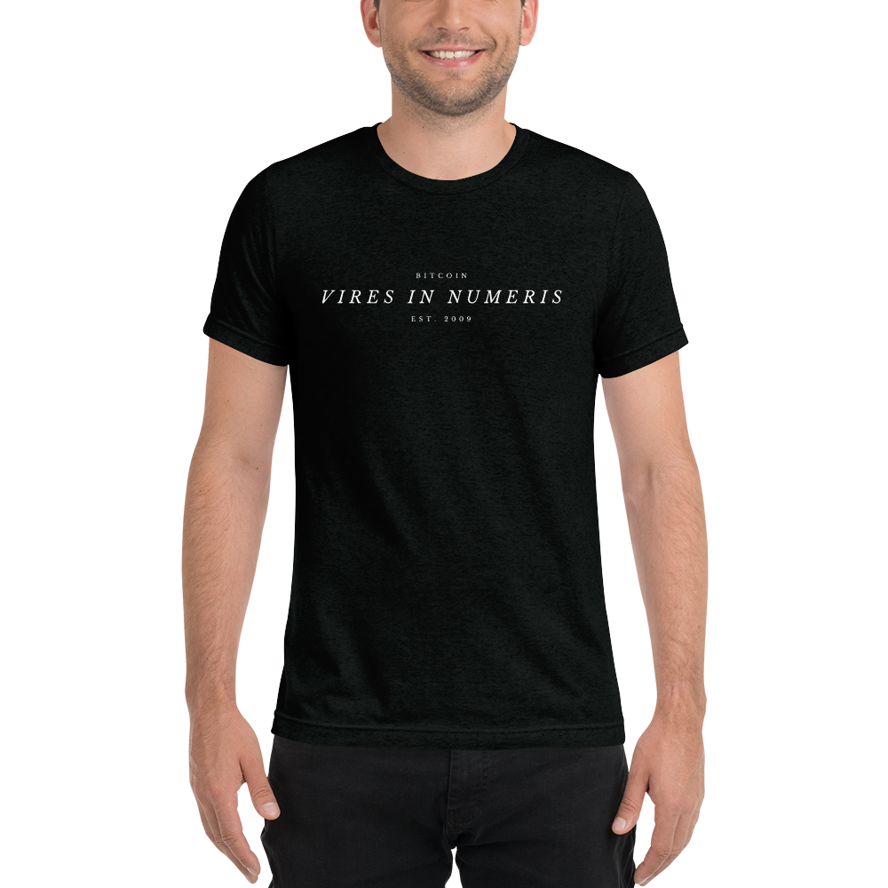 Vires in numeris (Bitcoin) - Men's Tri-Blend T-Shirt TCP1607 Emerald Triblend / S Official Crypto  Merch