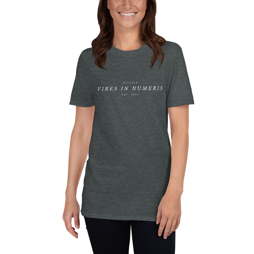 Vires in numeris (Bitcoin) - Women's T-Shirt TCP1607 Black / S Official Crypto  Merch